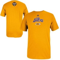 Adidas Los Angeles Lakers 2014 Noches Enebea T-Shirt Gold