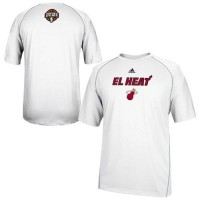 Adidas Miami Heat 2014 Noches Enebea ClimaLITE Performance T-Shirt White