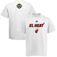 Adidas Miami Heat 2014 Noches Enebea T-Shirt White