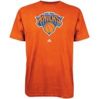 Adidas New York Knicks Primary Logo T-Shirt Orange