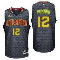 Atlanta Hawks #12 Dwight Howard Road Black New Swingman Jersey