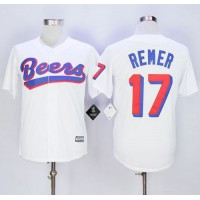 Beers Movie #17 Doug Remer White Stitched Basketball Jersey