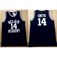 Bel-Air Academy #14 Smith Black Stitched Basketball Jersey