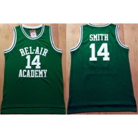 Bel-Air Academy #14 Smith Green Stitched Basketball Jersey