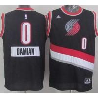 Blazers  0 Damian Lillard Black 2014-15 Christmas Day Stitched NBA Jersey 986044131
