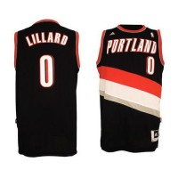 Blazers #0 Damian Lillard Black Revolution 30 Stitched NBA Jersey
