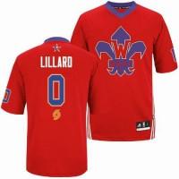 Blazers #0 Damian Lillard Red 2014 All Star Stitched NBA Jersey
