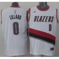 Blazers #0 Damian Lillard White Home Stitched NBA Jersey