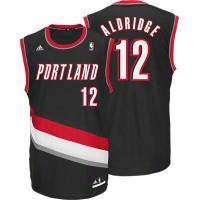 Blazers #12 LaMarcus Aldridge Black Revolution 30 Stitched NBA Jersey