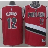 Blazers #12 LaMarcus Aldridge Stitched Red NBA Jersey