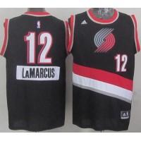 Blazers #12 Lamarcus Aldridge Black 2014-15 Christmas Day Stitched NBA Jersey