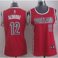 Blazers #12 Lamarcus Aldridge Red Women's Alternative Stitched NBA Jersey