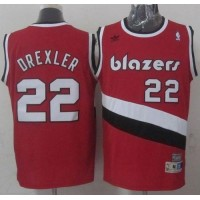 Blazers #22 Clyde Drexler Red Soul Swingman Throwback Stitched NBA Jersey