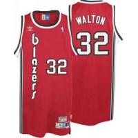 Blazers #32 Bill Walton Red Throwback Stitched NBA Jersey