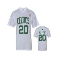 Boston Celtics #20 Ray Allen White NBA T-Shirts