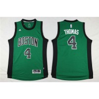 Boston Celtics #4 Isaiah Thomas Green Swingman Stitched NBA Jersey