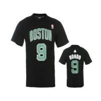 Boston Celtics #9 Rajon Rondo Black NBA T-Shirts