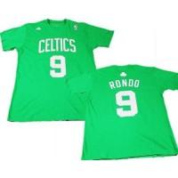 Boston Celtics #9 Rajon Rondo Green NBA T-Shirts