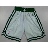 Boston Celtics White NBA Shorts