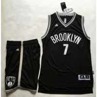 Brooklyn Nets #7 Jeremy Lin Black A Set Stitched NBA Jersey
