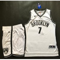 Brooklyn Nets #7 Jeremy Lin White A Set Stitched NBA Jersey
