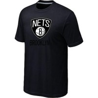 Brooklyn Nets Cord Logo Men's NBA T-shirt Black