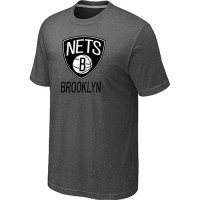Brooklyn Nets Cord Logo Men's NBA T-shirt Dark Grey