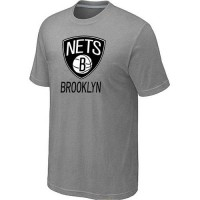 Brooklyn Nets Cord Logo Men's NBA T-shirt Light Grey