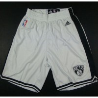 Brooklyn Nets White NBA Shorts