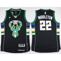 Bucks #22 Khris Middleton Black Alternate Stitched NBA Jersey