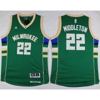 Bucks #22 Khris Middleton Green Stitched NBA Jersey
