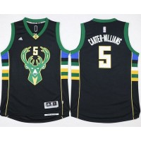 Bucks #5 Michael Carter-Williams Black Stitched NBA Jersey