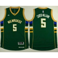 Bucks #5 Michael Carter-Williams Green Stitched NBA Jersey