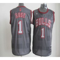 Bulls #1 Derrick Rose Black Rhythm Fashion Stitched NBA Jersey