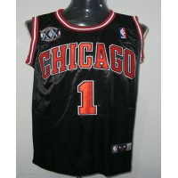 Bulls #1 Derrick Rose Black With 20TH Stitched NBA Jersey