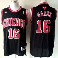 Bulls #16 Pau Gasol Black Revolution 30 Stitched Youth NBA Jersey