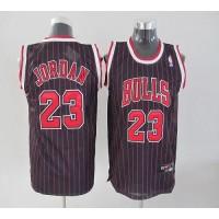 Bulls #23 Michael Jordan Stitched Black Red Strip Youth NBA Jersey