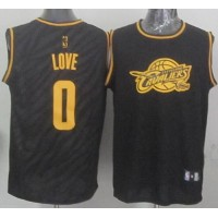Cavaliers #0 Kevin Love Black Precious Metals Fashion Stitched NBA Jersey