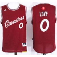 Cavaliers #0 Kevin Love Red 2015-2016 Christmas Day Stitched NBA Jersey
