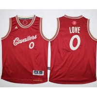 Cavaliers #0 Kevin Love Red 2015-2016 Christmas Day Stitched Youth NBA Jersey