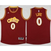 Cavaliers #0 Kevin Love Red CAVS Stitched NBA Jersey