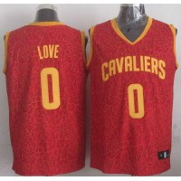 Cavaliers #0 Kevin Love Red Crazy Light Stitched NBA Jersey