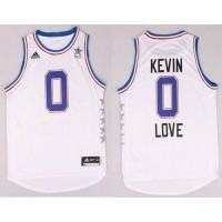 Cavaliers #0 Kevin Love White 2015 All Star Stitched NBA Jersey