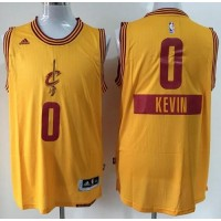 Cavaliers #0 Kevin Love Yellow 2014-15 Christmas Day Stitched NBA Jersey