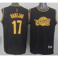 Cavaliers #17 Anderson Varejao Black Precious Metals Fashion Stitched NBA Jersey