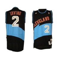 Cavaliers #2 Kyrie Irving Black ABA Hardwood Classic Fashion Stitched NBA Jersey