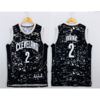 Cavaliers #2 Kyrie Irving Black City Light Stitched NBA Jersey