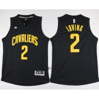 Cavaliers #2 Kyrie Irving Black Fashion Stitched NBA Jersey