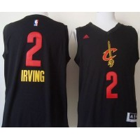 Cavaliers #2 Kyrie Irving Black New Fashion Stitched NBA Jersey