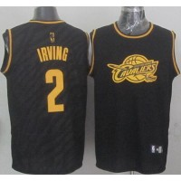Cavaliers #2 Kyrie Irving Black Precious Metals Fashion Stitched NBA Jersey